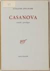 APOLLINAIRE (Guillaume). Casanova. Comédie parodique
