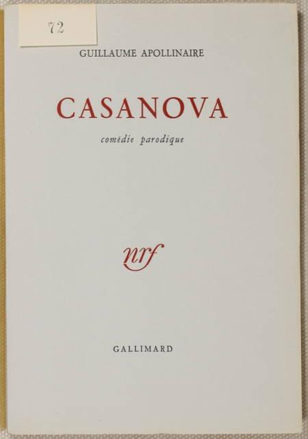 APOLLINAIRE - Casanova. Comédie parodique - 1952 - EO 1/110 vélin Lafuma-Navarre - Photo 0 - livre de bibliophilie