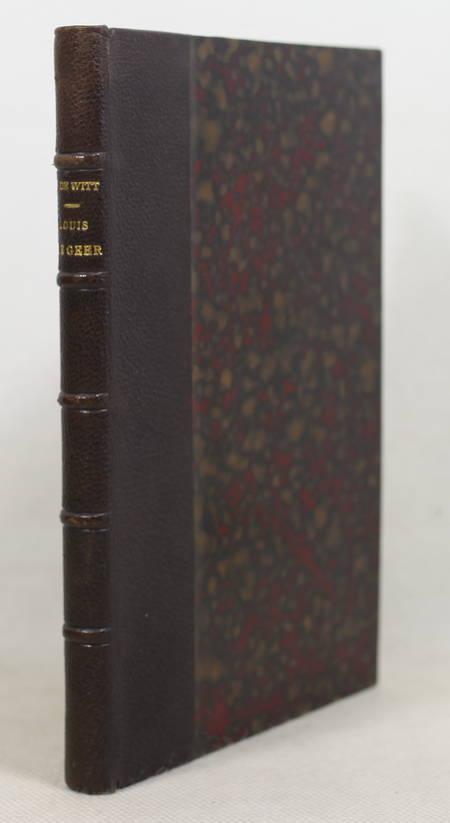 WITT (Pierre de). Louis de Geer. Etude biographique. Un praticien au XVIIe siècle, livre rare du XIXe siècle