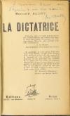 Bernard AUDRY - La dictatrice - 1928 - Envoi de l auteur - Photo 0 - livre rare