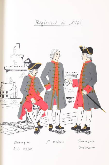 MILLET (Docteur). L'uniforme des officiers du service de santé. 1757-1814, livre rare du XXe siècle
