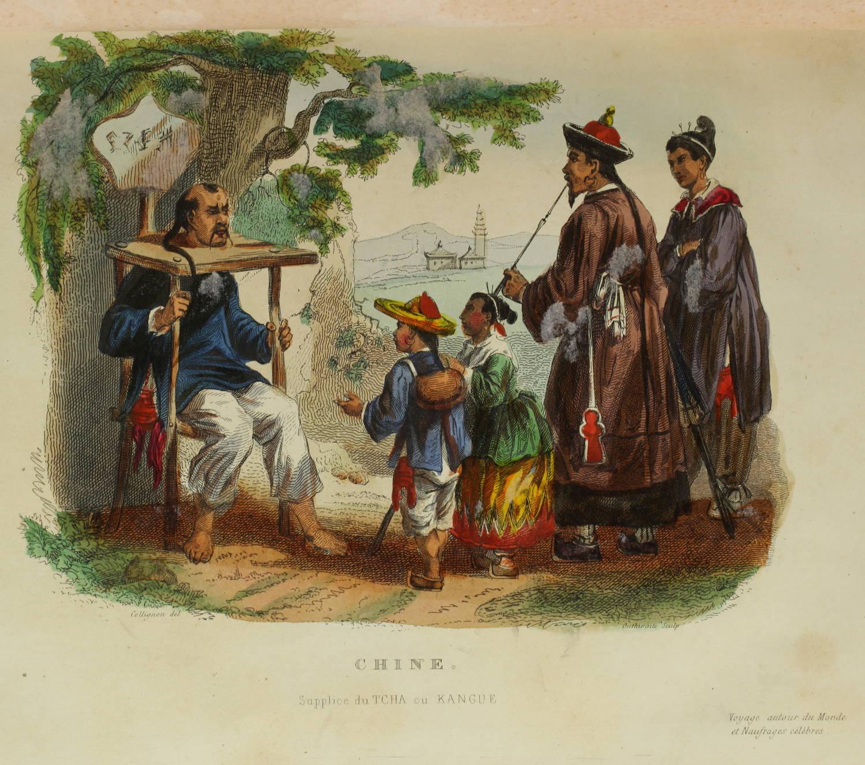 Voyages autour du Monde et naufrages célèbres 1843 - Planches couleurs - 8 v - Photo 9, livre rare du XIXe siècle