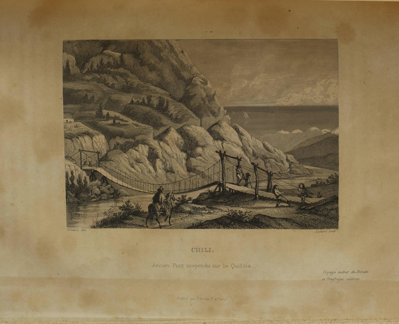 Voyages autour du Monde et naufrages célèbres 1843 - Planches couleurs - 8 v - Photo 10, livre rare du XIXe siècle