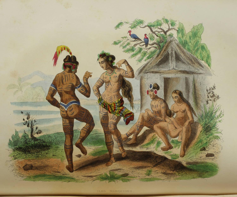 Voyages autour du Monde et naufrages célèbres 1843 - Planches couleurs - 8 v - Photo 11, livre rare du XIXe siècle