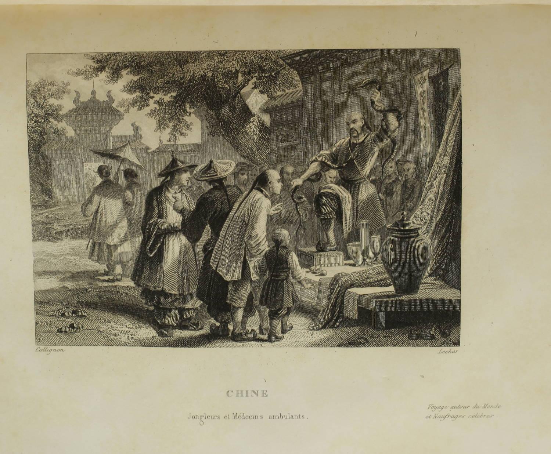 Voyages autour du Monde et naufrages célèbres 1843 - Planches couleurs - 8 v - Photo 12, livre rare du XIXe siècle
