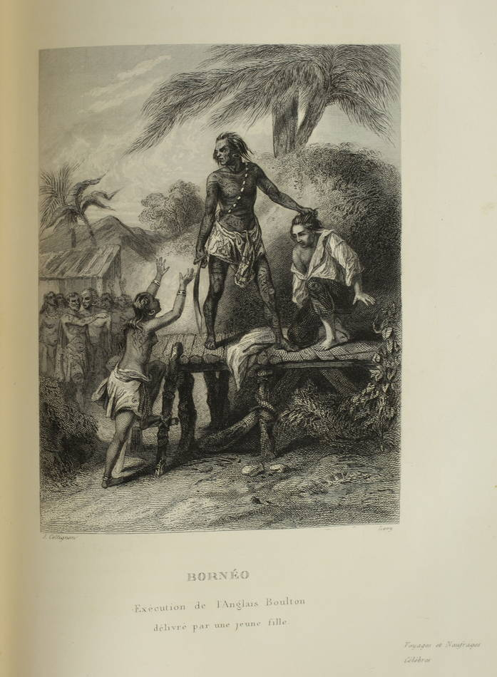 Voyages autour du Monde et naufrages célèbres 1843 - Planches couleurs - 8 v - Photo 14 - livre de collection
