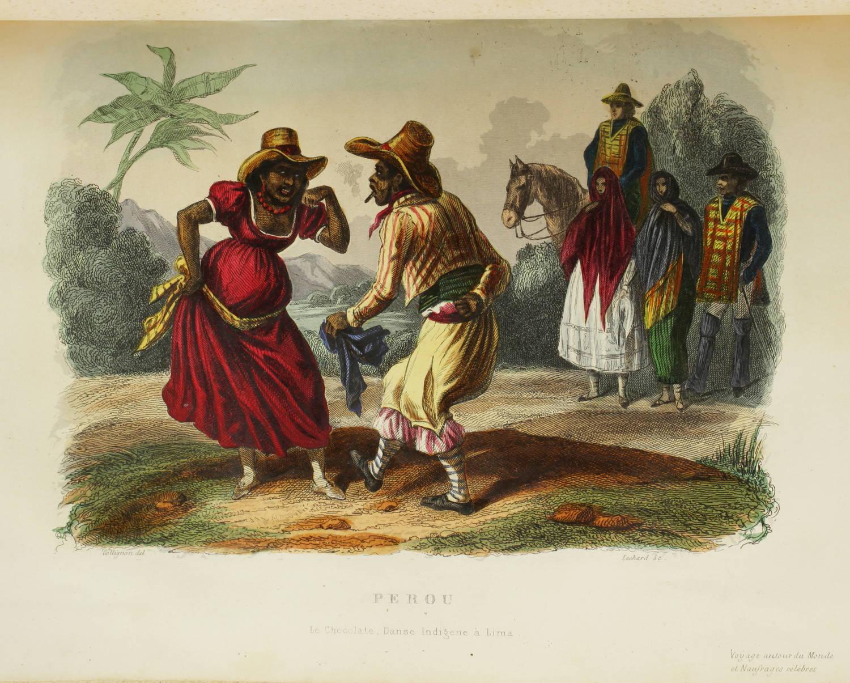 Voyages autour du Monde et naufrages célèbres 1843 - Planches couleurs - 8 v - Photo 15 - livre de collection
