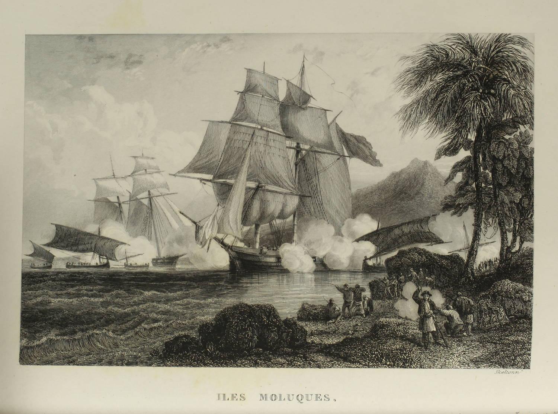 Voyages autour du Monde et naufrages célèbres 1843 - Planches couleurs - 8 v - Photo 16 - livre de collection