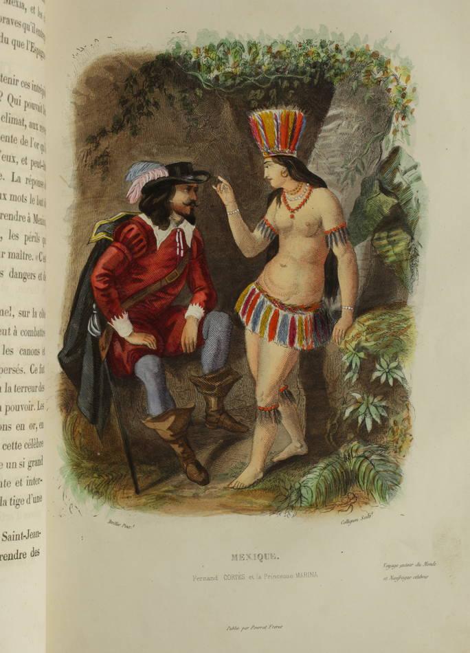 Voyages autour du Monde et naufrages célèbres 1843 - Planches couleurs - 8 v - Photo 1, livre rare du XIXe siècle