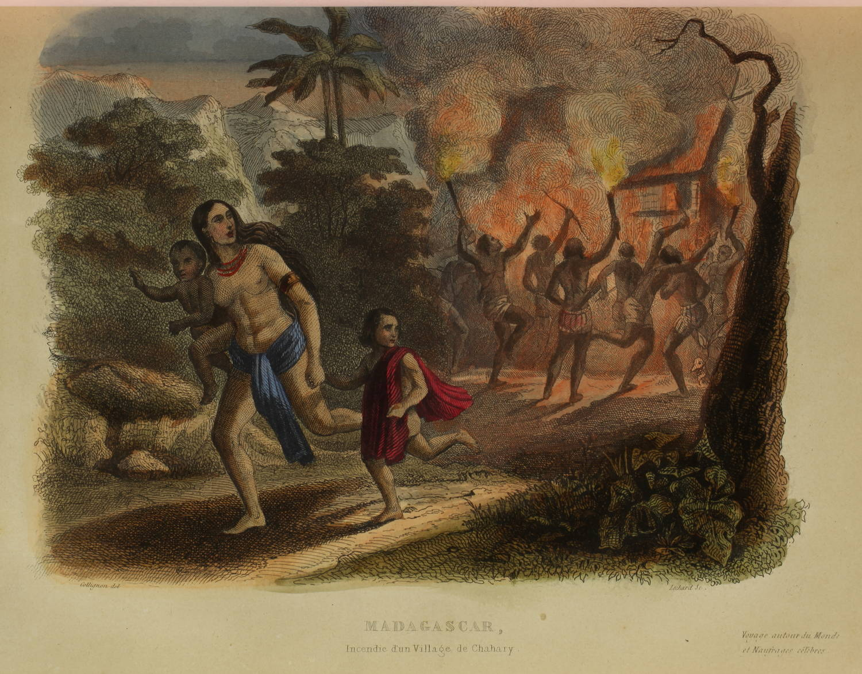 Voyages autour du Monde et naufrages célèbres 1843 - Planches couleurs - 8 v - Photo 5 - livre de collection