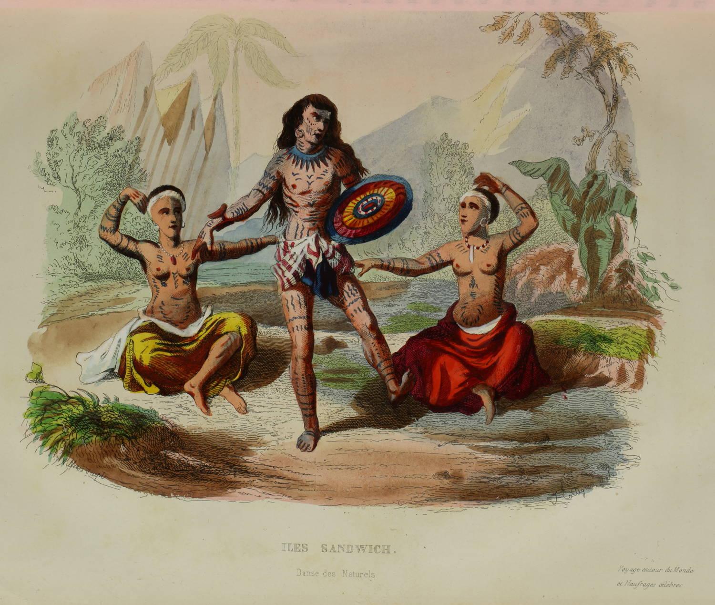 Voyages autour du Monde et naufrages célèbres 1843 - Planches couleurs - 8 v - Photo 7 - livre de collection