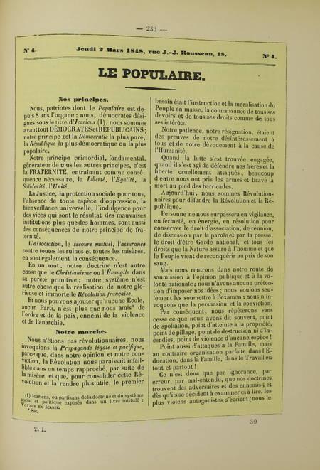 Les murailles révolutionnaires de 1848 - Affiches - Portraits - 2 volumes - 1868 - Photo 2 - livre d'occasion