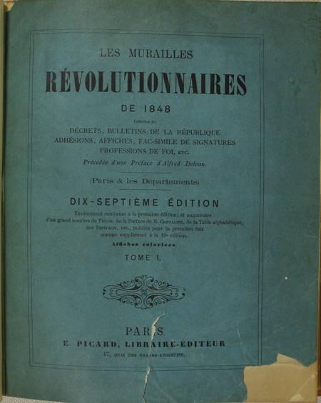 Les murailles révolutionnaires de 1848 - Affiches - Portraits - 2 volumes - 1868 - Photo 4 - livre d'occasion