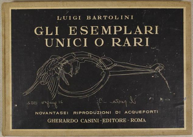 [Estampes] Luigi BARTOLINI - 96 riproduzioni di acqueforti unici o rari - 1952 - Photo 0 - livre de bibliophilie