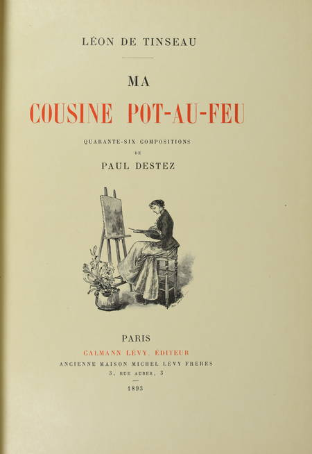 TINSEAU - La cousine pot-au-feu - 1893 - 1/25 Japon - Illustré par Paul Destez - Photo 2 - livre de bibliophilie
