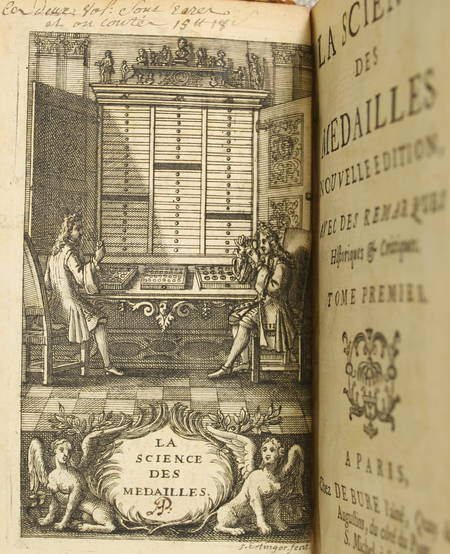 Jobert La science des médailles Avec des remarques - 1739 - 2 volumes - Planches - Photo 0 - livre rare