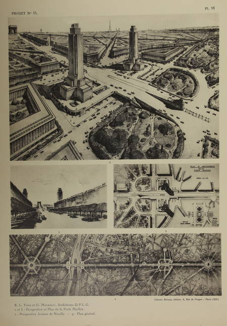Concours d'architecture - Place de l'Etoile au rond point de la Défense [v 1932] - Photo 0 - livre moderne