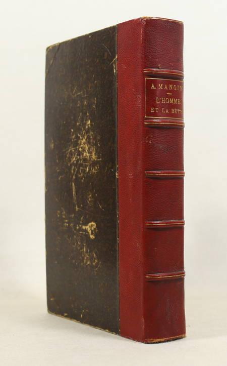 MANGIN - L'homme et la bête - 1872 - Relié - 120 gravures - Photo 1 - livre de collection