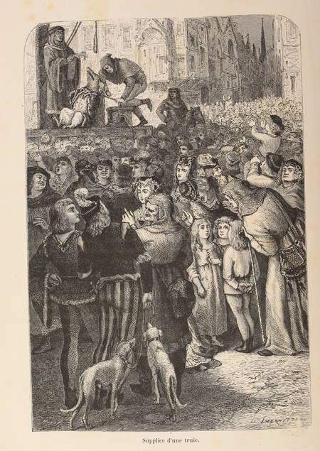 MANGIN - L'homme et la bête - 1872 - Relié - 120 gravures - Photo 2 - livre de collection