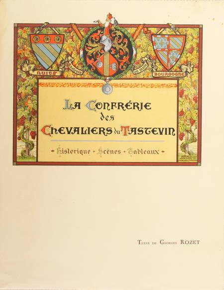 ROZET - La confrérie des chevaliers du Tastevin. Historique, scènes,... 1937 - Photo 1 - livre d'occasion