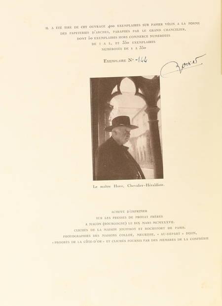 ROZET - La confrérie des chevaliers du Tastevin. Historique, scènes,... 1937 - Photo 2 - livre de bibliophilie