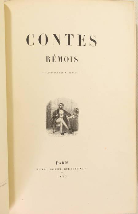 CHEVIGNE - Les contes rémois 1843 - Première édition illustrée - Photo 2 - livre de collection