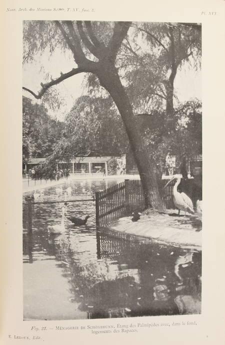 LOISEL (Gustave). Rapport sur une mission scientifique dans les jardins et établissements zoologiques publics et privés de l'Allemagne, de l'Autriche-Hongrie, de la Suisse et du Danemarck