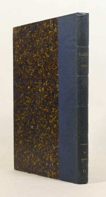 LOISEL - Rapport sur une mission scientifique dans les jardins zoologiques 1907 - Photo 1 - livre de bibliophilie