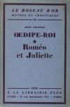 COCTEAU Oedipe-Roi [suivi de :] Roméo et Juliette - 1928 - Alfa - Photo 1 - livre d occasion
