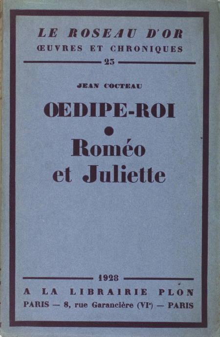 COCTEAU Oedipe-Roi [suivi de :] Roméo et Juliette - 1928 - Alfa - Photo 1 - livre rare