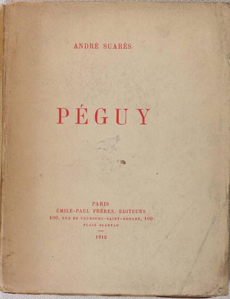 André SUARES - Péguy - 1915 - EO numérotée - Photo 1 - livre de bibliophilie