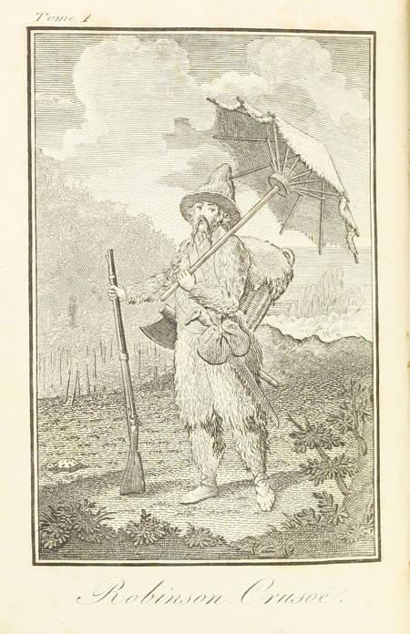 Robinson Crusoe, par Feutry - 1809 - 2 volumes, frontispices - Photo 0 - livre ancien