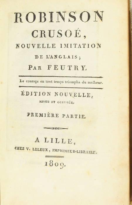Robinson Crusoe, par Feutry - 1809 - 2 volumes, frontispices - Photo 2 - livre ancien