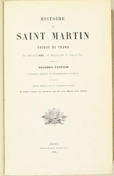Achille DUPUY - Histoire de Saint-Martin, évêque de Tours - 1858 - Photo 1 - livre de collection