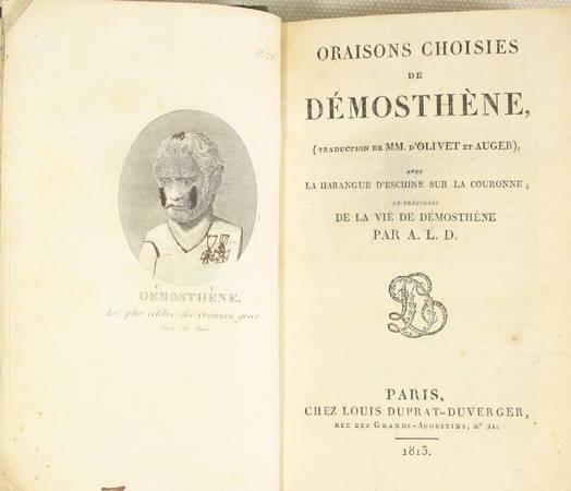 DEMOSTHENE - Oraisons choisies - 1813 - Relié - Photo 1 - livre du XIXe siècle
