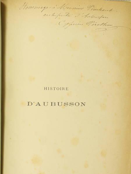 [Marche, Creuse] PERATHON - Histoire de la ville d'Aubusson - 1886 - Photo 2 - livre rare