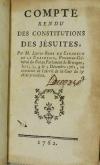 CARADEUC de la CHALOTAIS - Compte rendu des constitutions des jésuites - 1762 - Photo 1, livre ancien du XVIIIe siècle