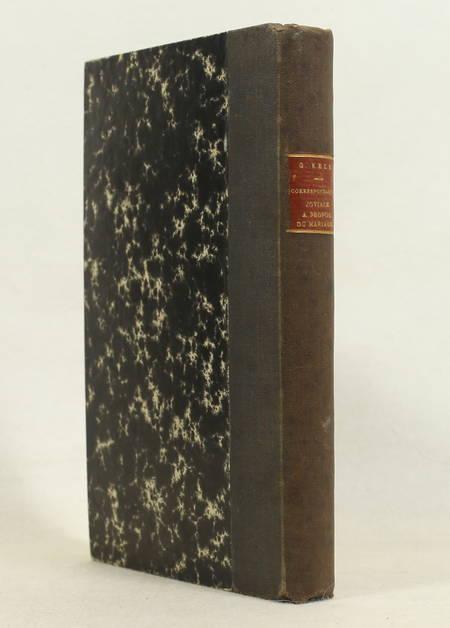 KELB (Georges). Correspondance joviale à propos de mariage, livre rare du XIXe siècle