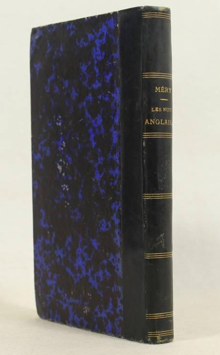 MERY. Les nuits anglaises. Contes nocturnes, livre rare du XIXe siècle