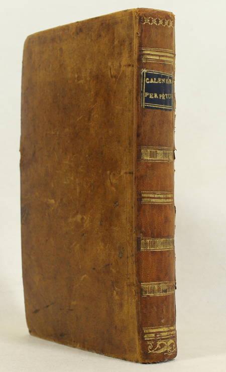 [Astronomie] DANTAL - Calendrier perpétuel et historique - 1810 - Photo 1, livre ancien du XIXe siècle