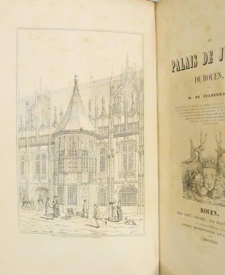 [Normandie] STABENRATH - Le palais de justice de Rouen - 1842 - Photo 1 - livre de collection