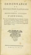 Ordonnance de l évêque d Auxerre : Condamnation d un livre - 1747 - Photo 1 - livre de bibliophilie
