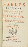 LA FONTAINE (Jean de). Fables choisies, mises en vers par Monsieur de la Fontaine, avec un nouveau commentraire par M. Coste, membre de la Société Royale de Londres. Nouvelle édition