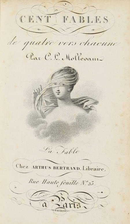 MOLLEVAUT - Cent fables de quatre vers chacune - (1821) - Photo 0 - livre romantique