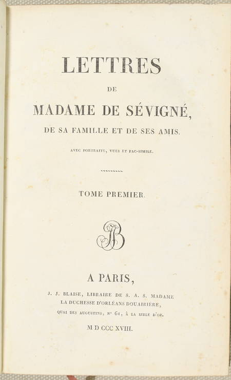 Lettres de Madame de Sévigné - Blaise 1818 - 10 vol in-8 + Coulanges de 1820 - Photo 1 - livre de collection