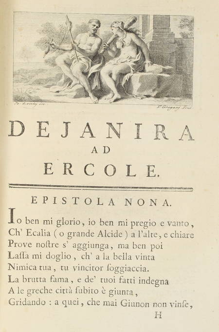 OVIDE - Epistole eroiche di P. Ovidio Nasone - 1762 - Illustré par Zocchi - Photo 1 - livre de collection