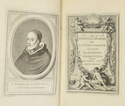OVIDE - Epistole eroiche di P. Ovidio Nasone - 1762 - Illustré par Zocchi - Photo 2 - livre de collection