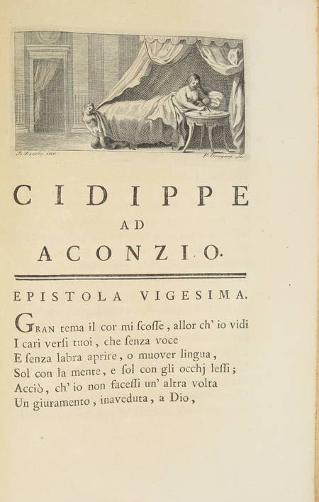 OVIDE - Epistole eroiche di P. Ovidio Nasone - 1762 - Illustré par Zocchi - Photo 3 - livre de collection