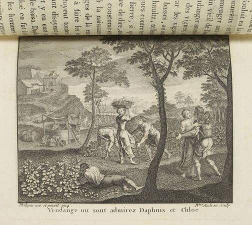 LONGUS Amours pastorales de Daphnis et Chloé 1796 - Audran d'après Ph. d'Orléans - Photo 4 - livre du XVIIIe siècle