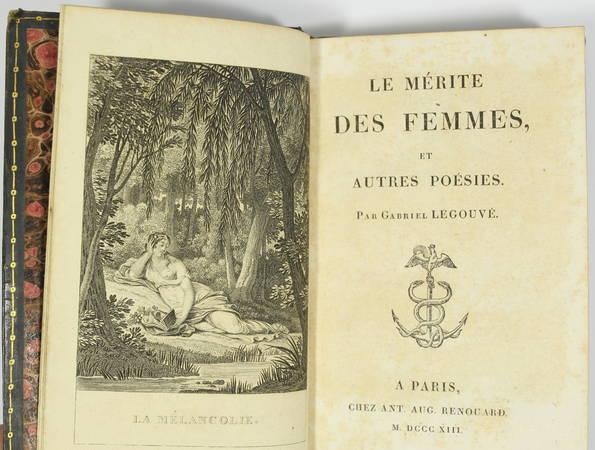 Gabriel LEGOUVE - Le mérite des femmes - Renouard, 1813 - Frontispice - Photo 2 - livre du XIXe siècle